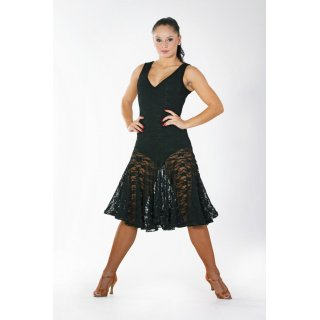 Black Lace Latin Dress
